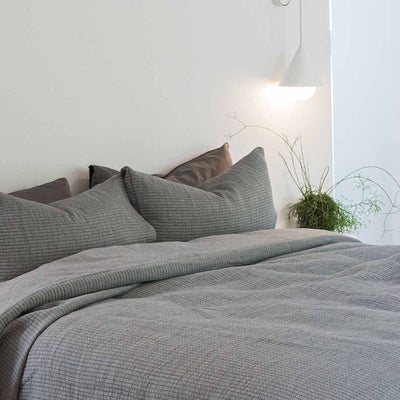 PARKER Pillowcases - Charcoal