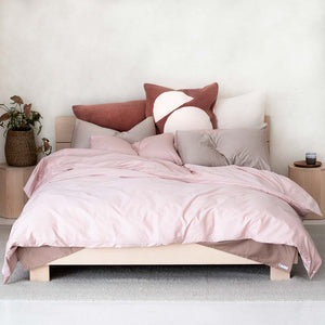 Marloe Shearling European Pillowcases - Blush