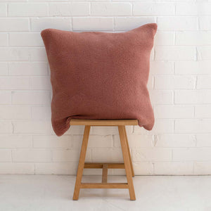 Marloe Shearling European Pillowcase - Solid Blush