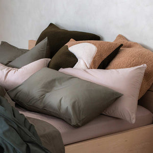 Marloe Shearling European Pillowcases - Hunter Green