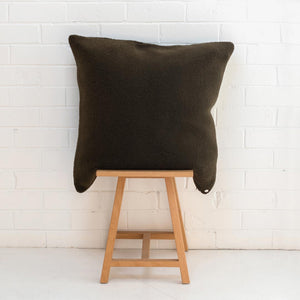 Marloe Shearling European Pillowcase - Solid Hunter Green