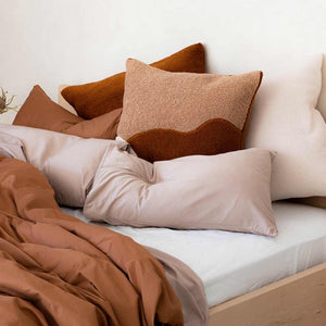 Marloe Shearling European Pillowcases - Terracotta