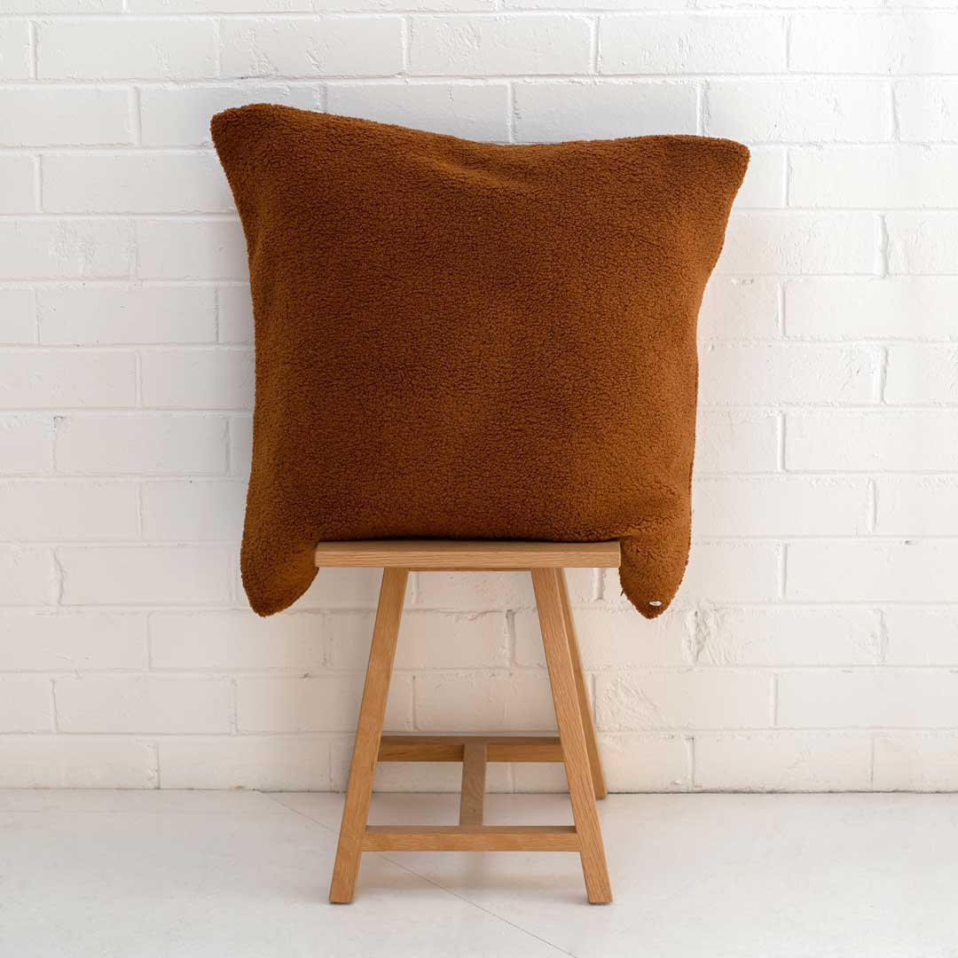 Marloe Shearling European Pillowcase - Solid Terracotta