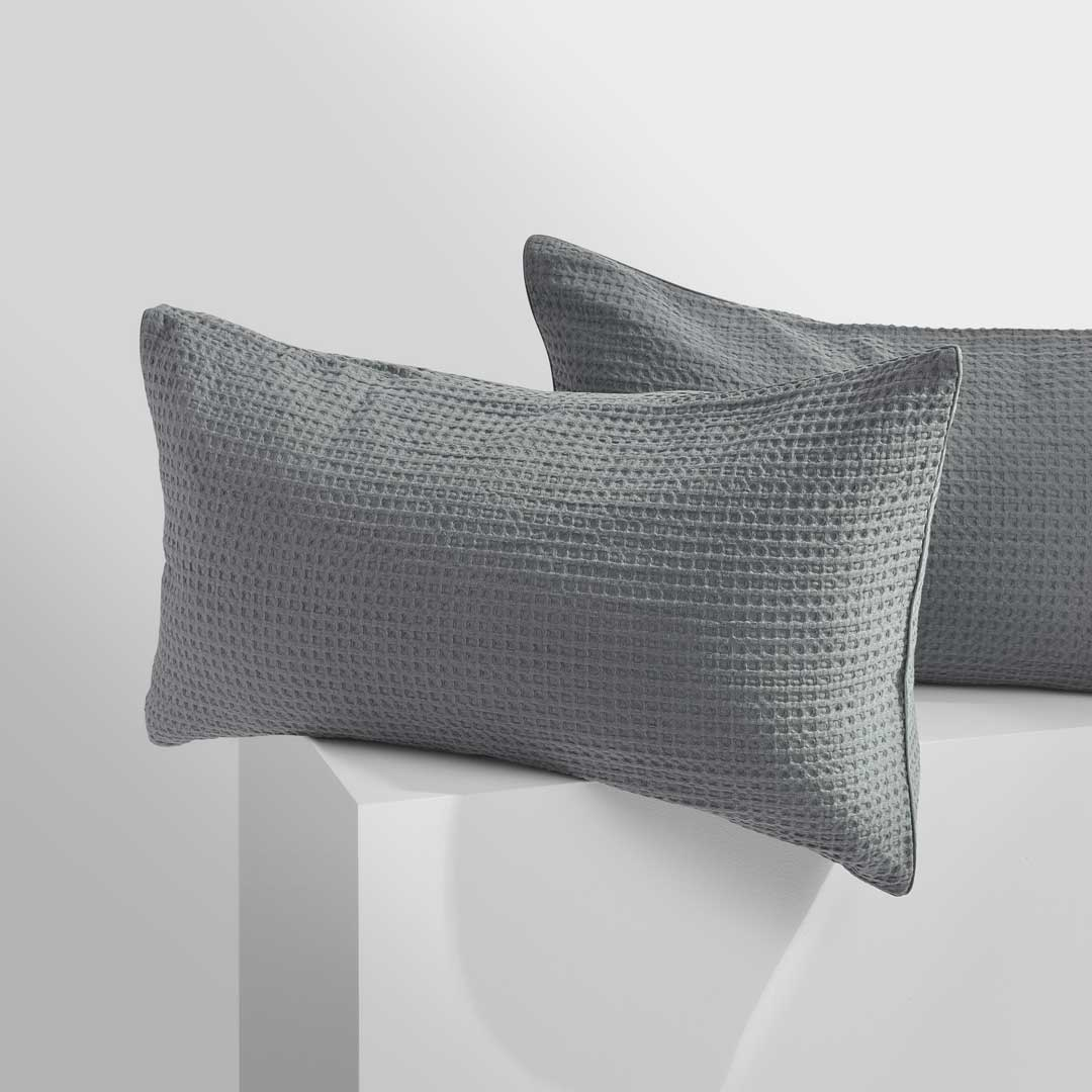 TULLY Waffle Pillowcases - Charcoal