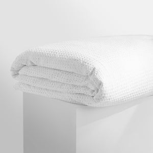 Tully Waffle Quilt Cover - White