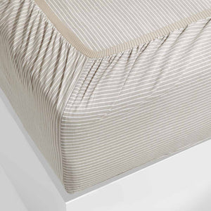 Leo Washed Cotton - Beige Stripe