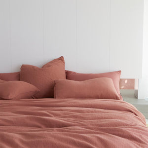 Lola Bouclé European Pillowcase - Rust