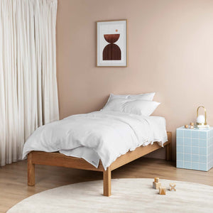 Linen Kids Bedding - White