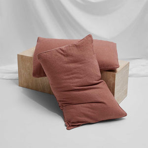 Lola Bouclé Pillowcases - Rust