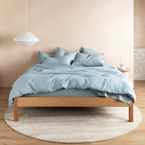 Eve Linen Flat Sheet - Blueprint