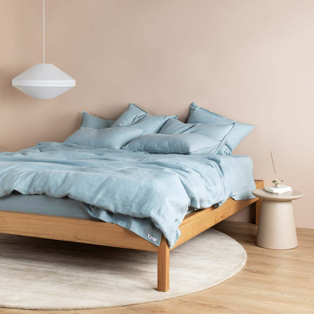 Eve Linen European Pillowcases - Blueprint