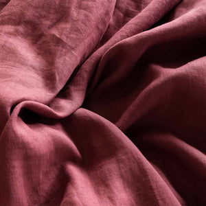 Eve Linen Fitted Sheet - Rose