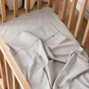 Kids Bedding - Charcoal Thin Stripe