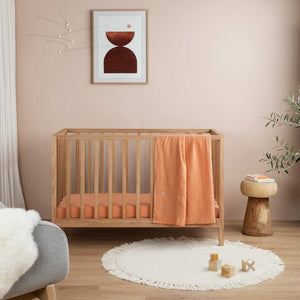 Linen Kids Bedding - Papaya