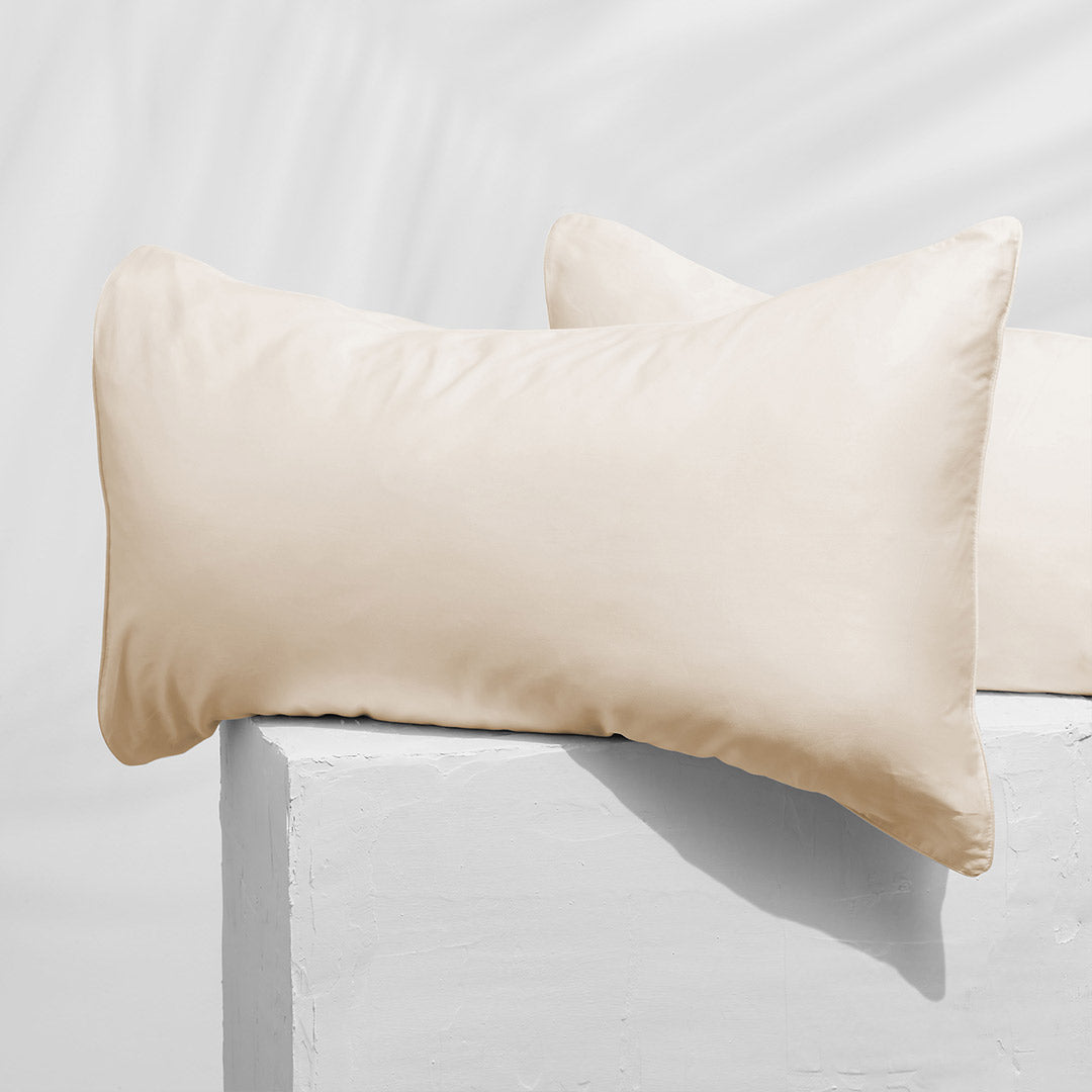Organic Cotton Pillowcases - Warm White