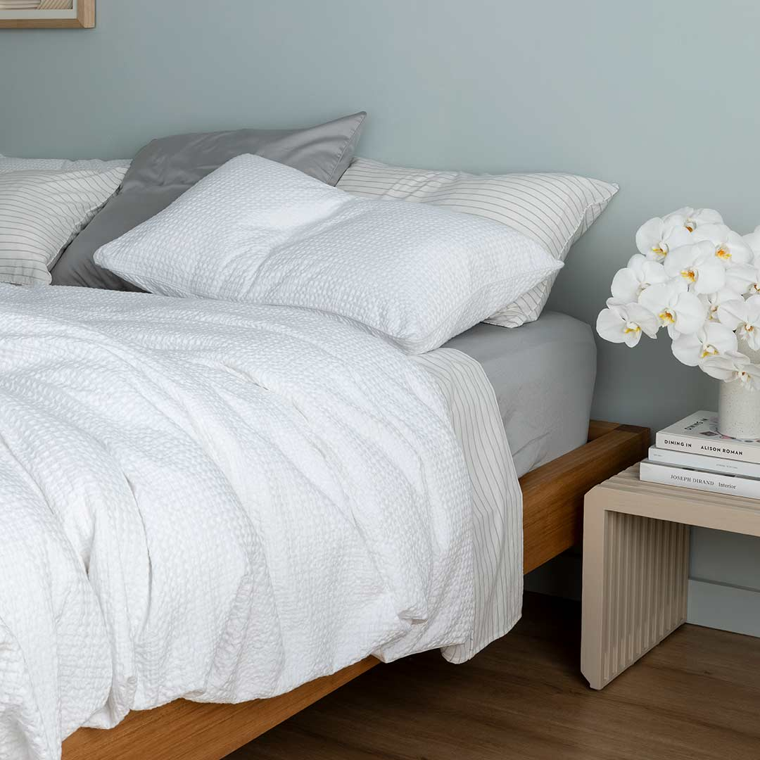 Tully Waffle Pillowcases - White