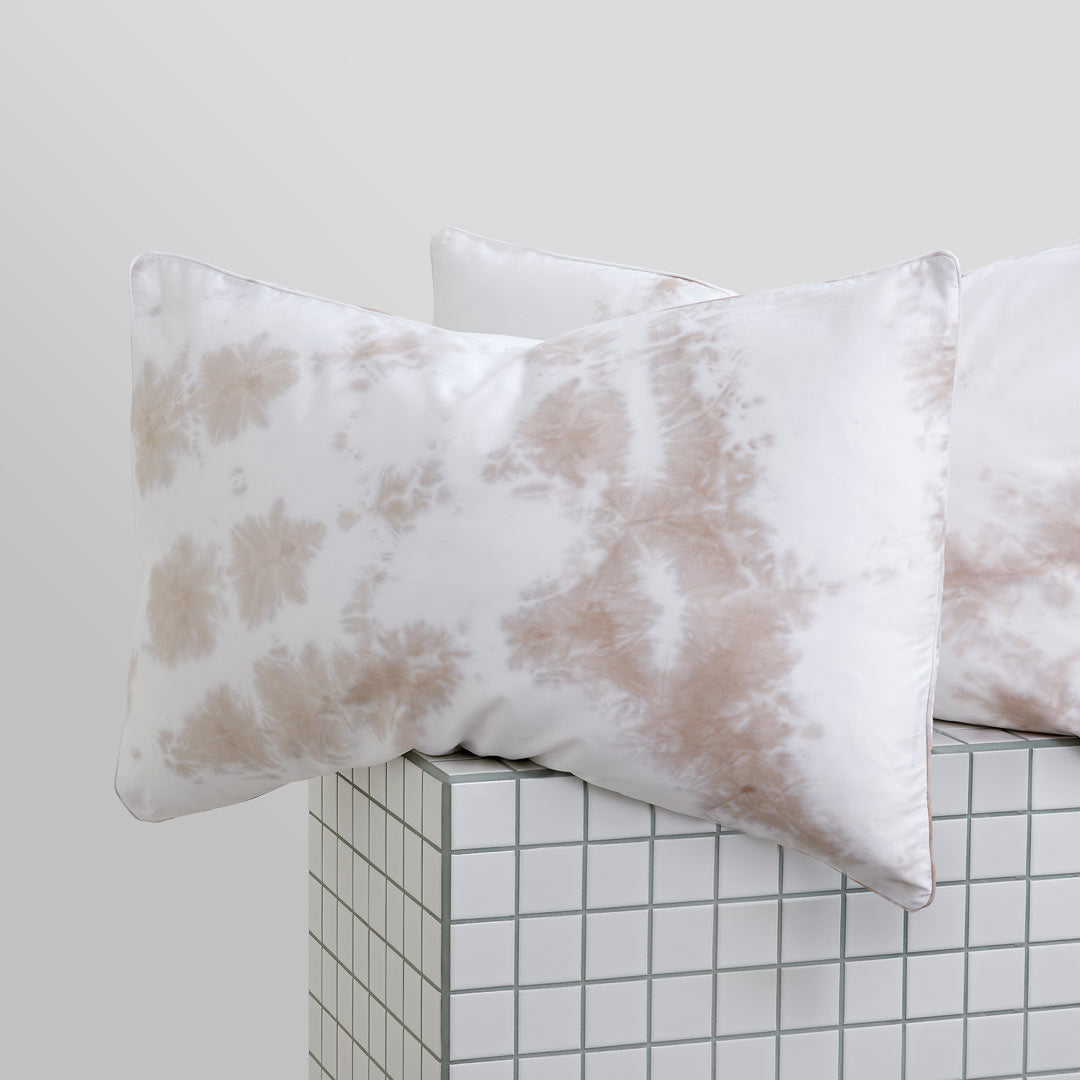 Tie-Dye Pillowcases - Beige