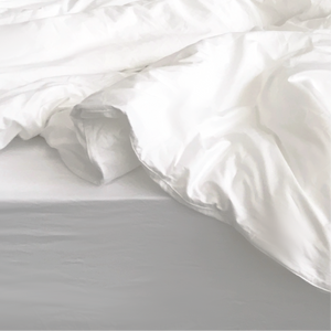 Pearl Organic Cotton Quilt Cover - White - The Sheet Society