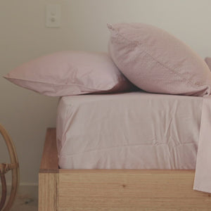 Bouclé Kids Bedding - Blush