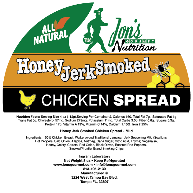 Jon's Gourmet Jerk Smoked Honey Chicken Spread