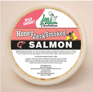 Jon's Gourmet Honey Jerk Smoked Salmon Spread