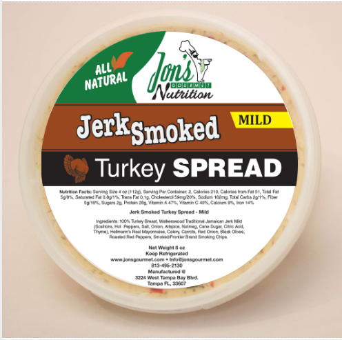 Jon's Gourmet Jerk Smoked Mild Turkey Spread