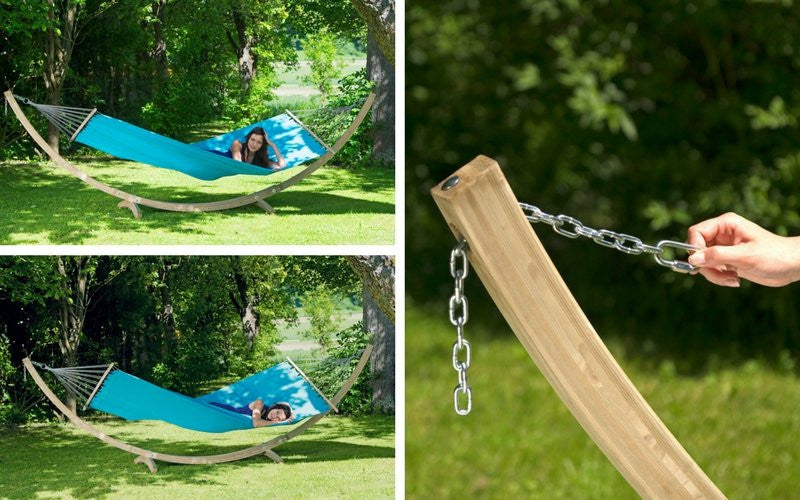 Wood Hammock Set