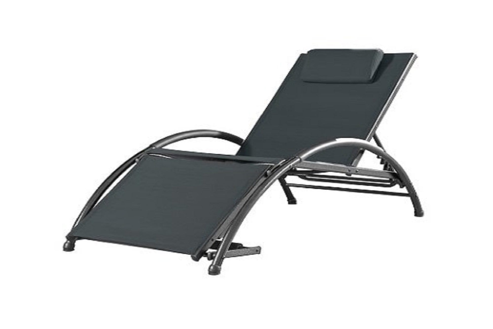 Vivere Outdoor Black Ink Dockside Sun Lounger