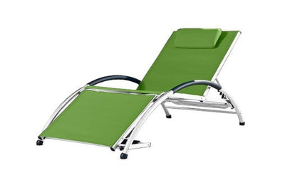 Sun lounger green