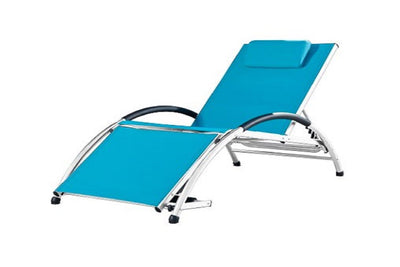 Sun lounger blue