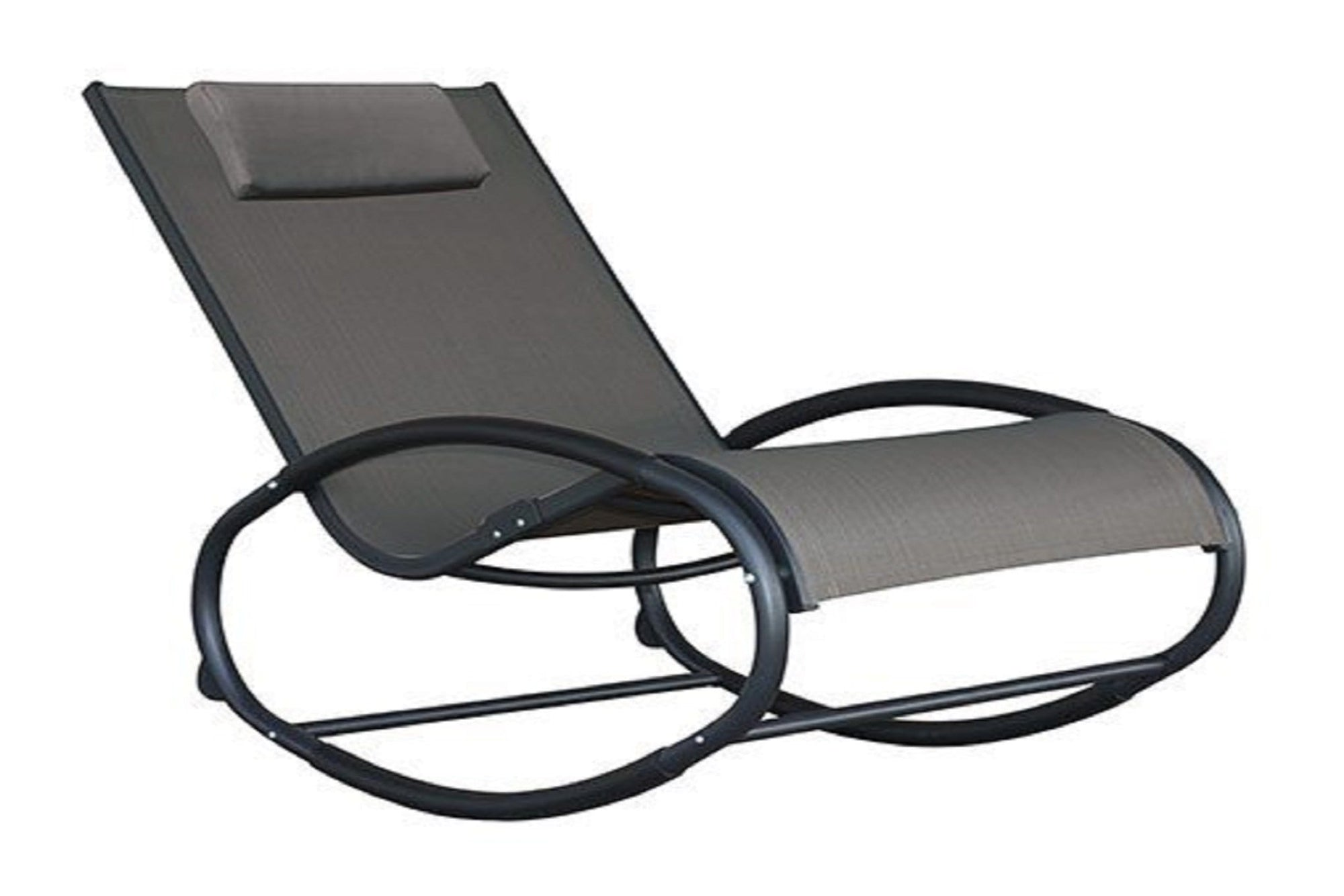 Vivere Outdoor Grey Wave Rocker Chair
