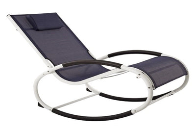 Vivere Outdoor Navy Wave Rocker Chair