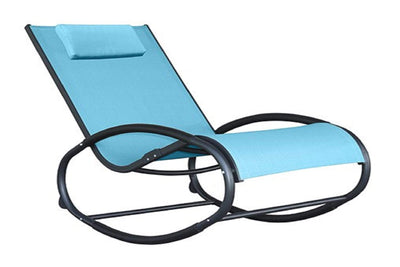 Vivere Outdoor Ocean Blue Wave Rocker Chair