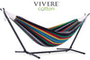 Vivere Sets Double Cotton Hammock with 2.5m Metal Stand