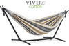 Vivere Sets Desert Moon Double Cotton Hammock with 2.5m Metal Stand