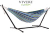 Vivere Sets Maui Double Cotton Hammock with 2.5m Metal Stand