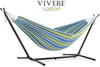 Vivere Sets Oasis Double Cotton Hammock with 2.5m Metal Stand