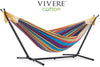 Vivere Sets Tropical Double Cotton Hammock with 2.5m Metal Stand