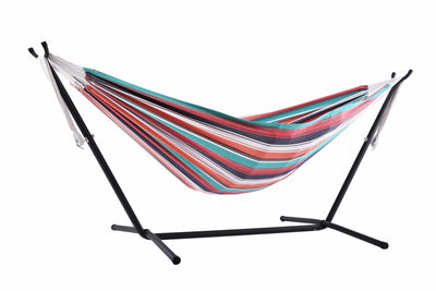 Single Brazilian hammock with metal stand