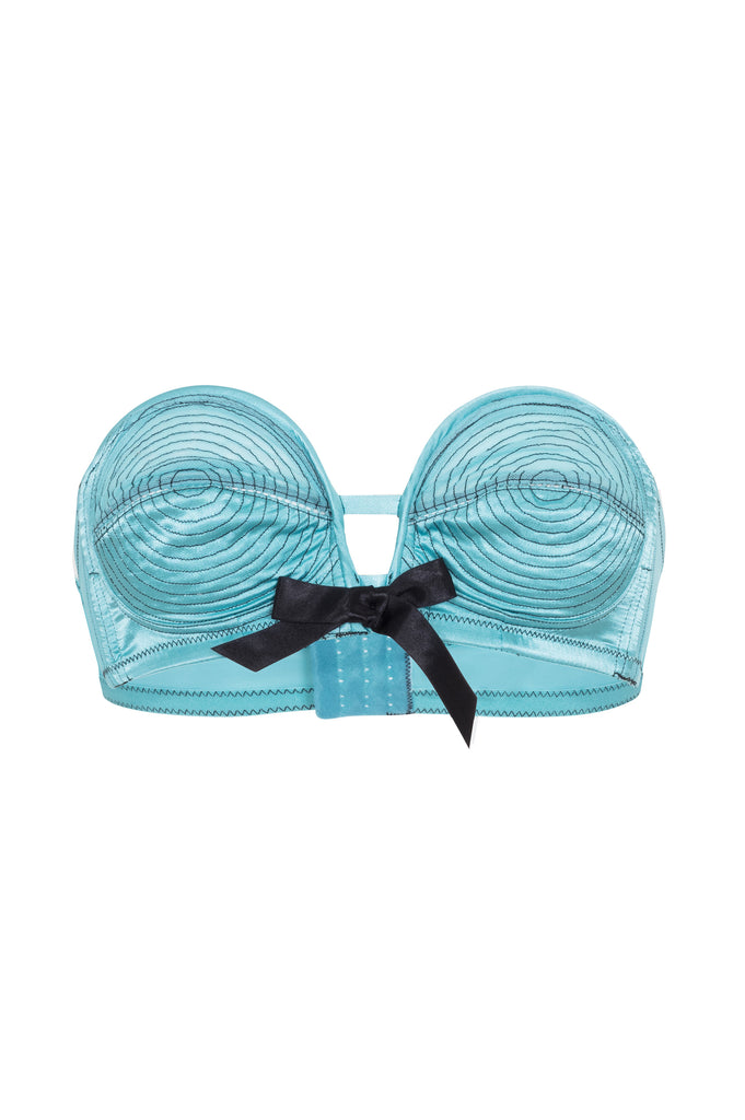 Teal/Black Overwire Bra