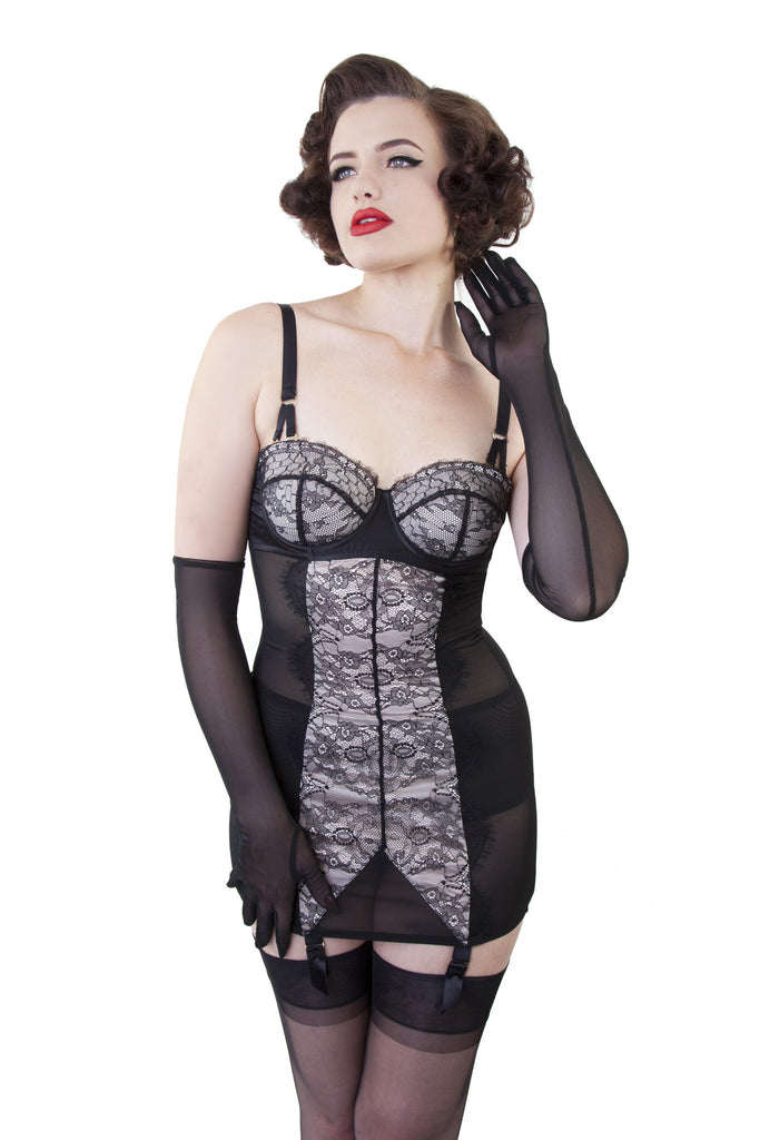 Curve Creator Shaping Corselette - Lace - Bettie Page Lingerie