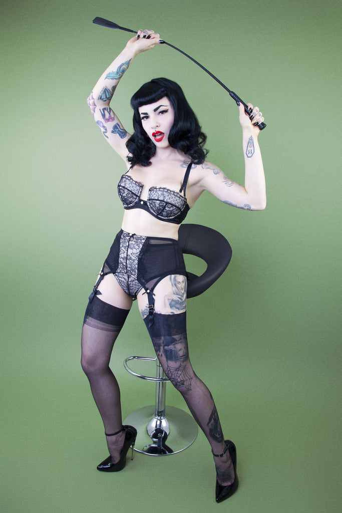Retro Eyelash Lace Bra - Bettie Page Lingerie