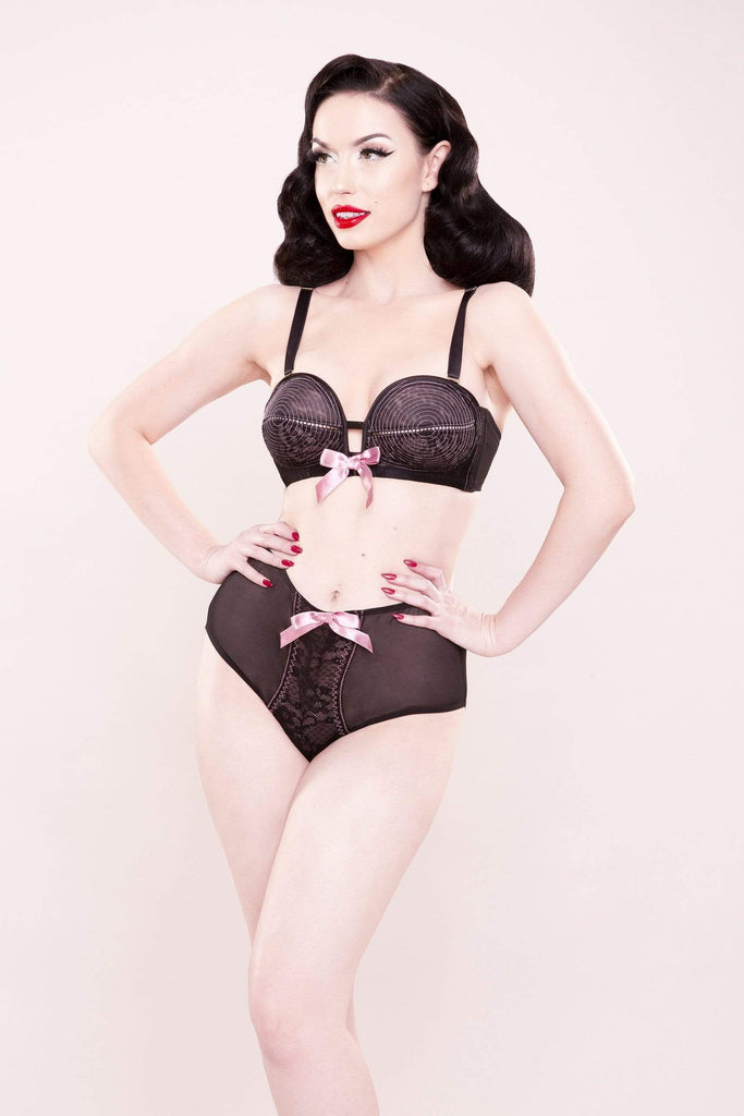Bettie Page Lace Overwire Bra