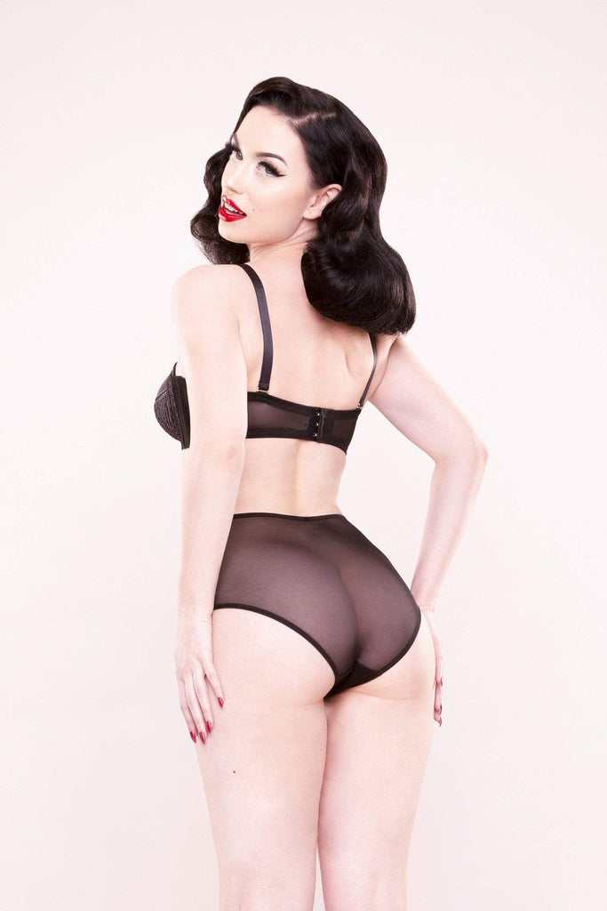 Bettie Page Lace stitch HW brief