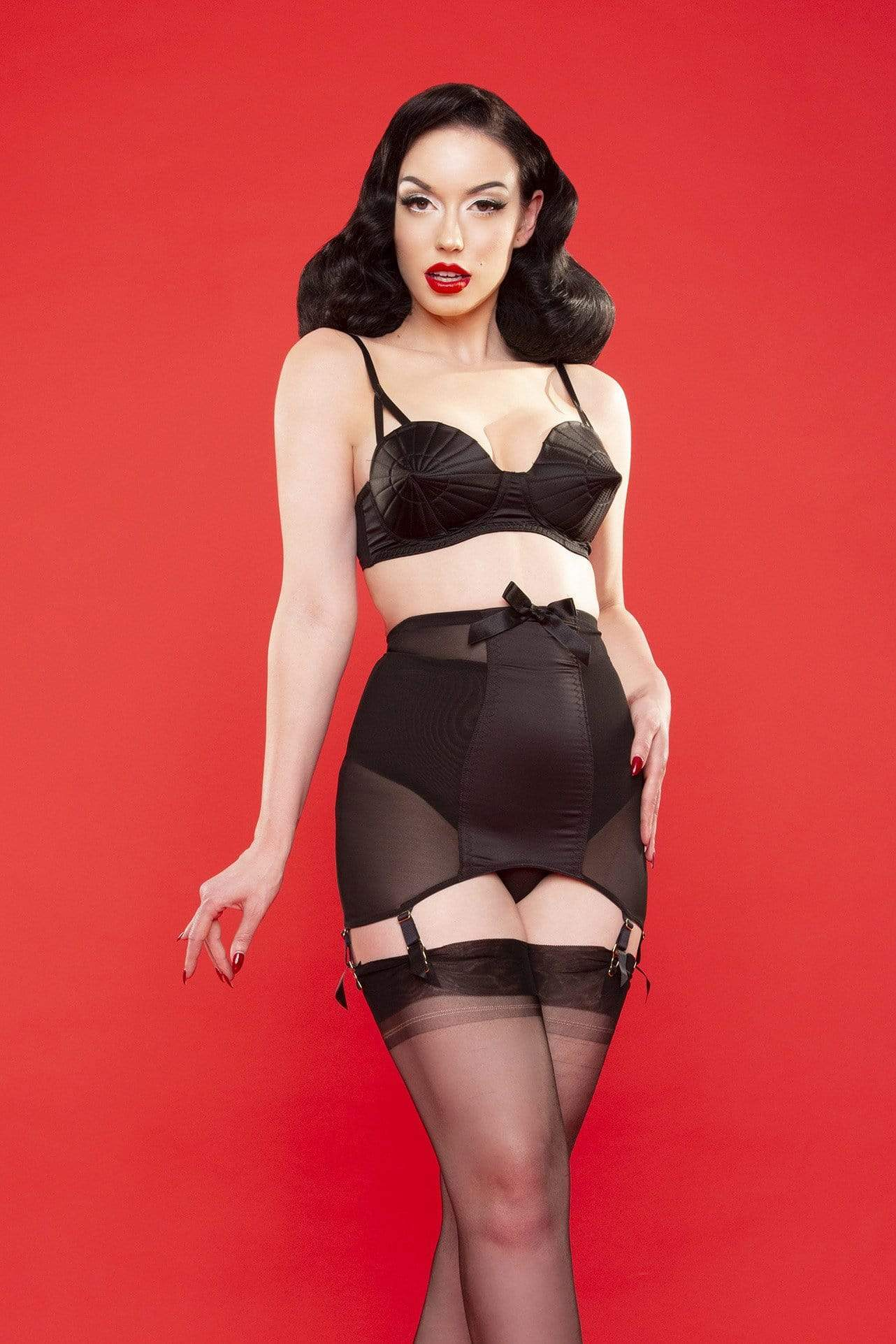 Bettie Page Hd bettie page satin girdle