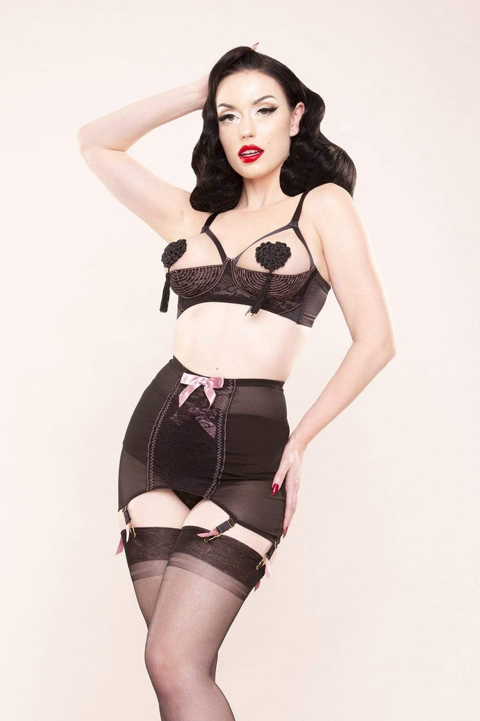 Bettie Page Pink Lace Girdle