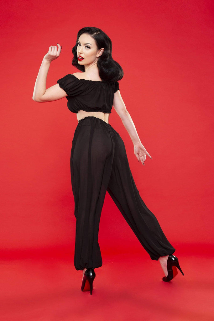 Bettie Page Retro Lounge Trousers
