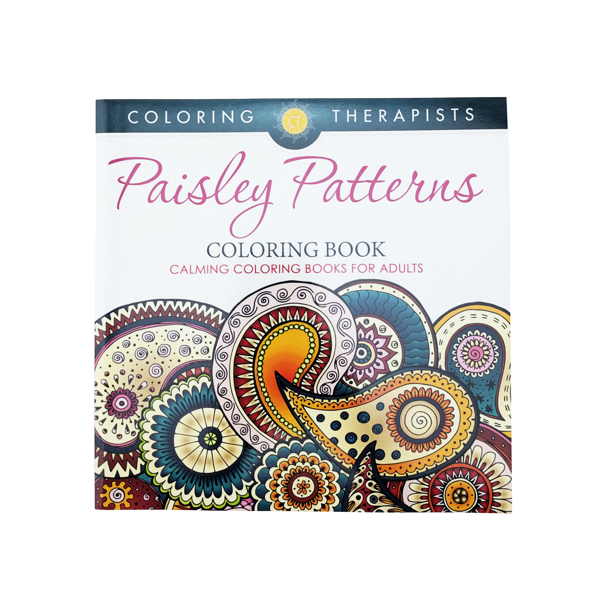 Paisley Patterns Coloring Book: Calming Coloring Books For Adults ...