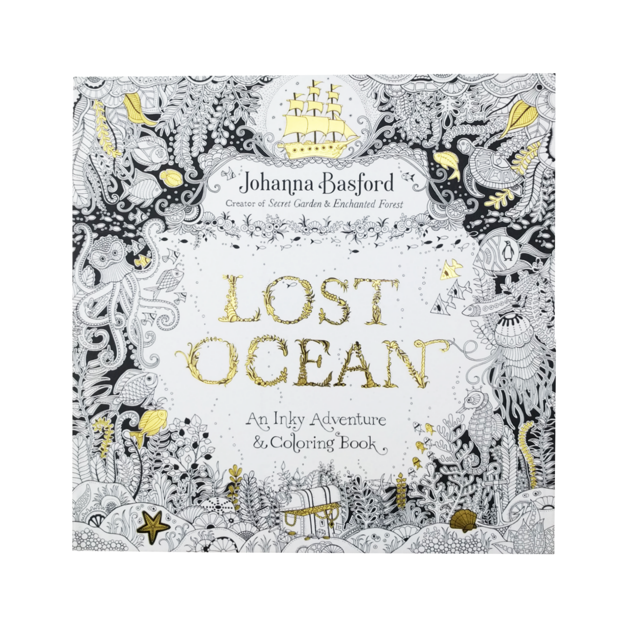 Lost Ocean An Inky Adventure And Coloring Book For Adults Johanna Basford