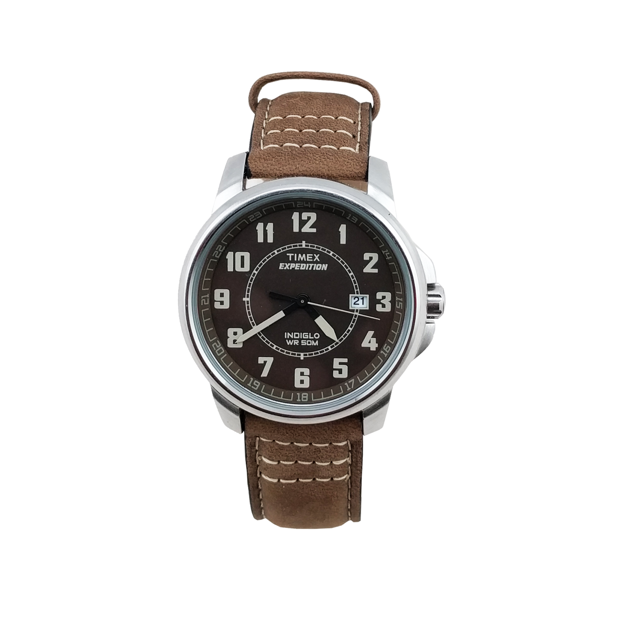 fc4f284b8 Timex · Expedition: Metal Field Brown Leather Strap Watch – Mens ...